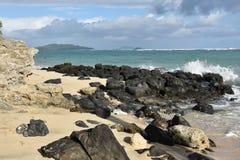 Costa sudorientale dell'isola di Oahu l'hawai Fotografia Stock Libera da Diritti