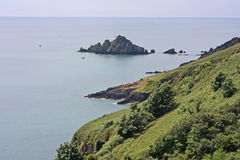 Costa sul de Devon foto de stock