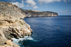 Costa sur de Malta Fotos de archivo