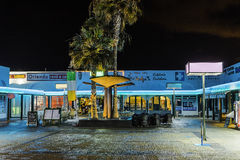 Costa Teguise la nuit photo libre de droits