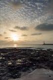Costa Teguise wschód słońca Fotografia Royalty Free