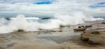 Costa tempestuosa Fotografía de archivo libre de regalías