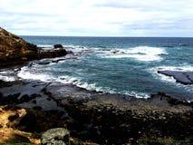 Costa costa trasera de la playa foto de archivo
