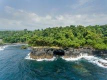 Costa tropical en África central Foto de archivo libre de regalías