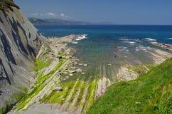Costa Vasca near Zumaia Royalty Free Stock Image