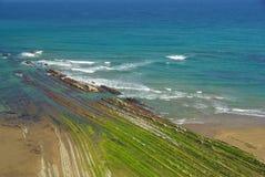Costa Vasca near Zumaia Royalty Free Stock Photos