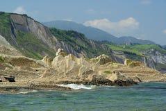 Costa Vasca near Zumaia Stock Photo