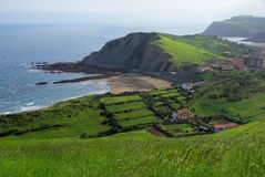 Costa Vasca near Zumaia Royalty Free Stock Photography