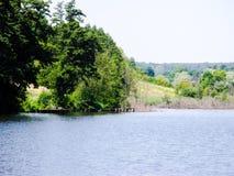 Costa verde do grande lago Fotografia de Stock Royalty Free