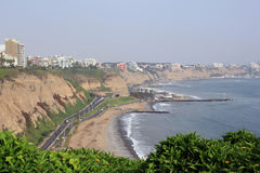 Costa Verde, Lima Royalty Free Stock Photography