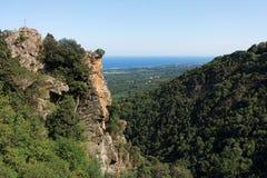 Costa verde mountains in Corsica Stock Image