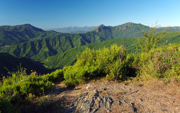 Costa verde mountains in corsica island Royalty Free Stock Photography