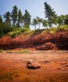 Costa vermelha do príncipe Edward Island imagens de stock