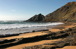 Costa Vicentina. West coast of Portugal (Praia de Odeceixe Royalty Free Stock Photography