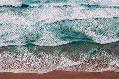 Amazing Waves. Costa Vicentina has amazing seascapes Stock Photos