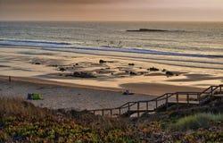 Costa Vicentina, Portugal. Praia do Amado. Beach Praia do Amado at costa Vicentina, Portugal Stock Photos