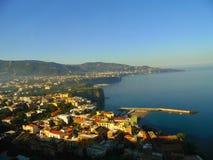Costa vicino a Napoli Fotografie Stock Libere da Diritti