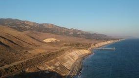 Costa 3 video aéreos de Gaviota California almacen de metraje de vídeo