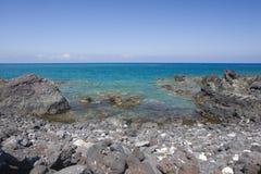 Costa vulcânica de Havaí de Kona imagem de stock royalty free