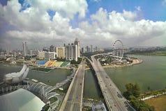 Costa y carreteras de Singapur. Avenida de Bayfront. y avenida de Sheares.  Fotos de archivo