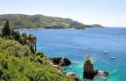 Costa y mar, la isla de Corfú, Grecia, Europa imagen de archivo libre de regalías