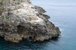 Costa y mar rocosos fotos de archivo