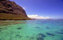Costa y océano hawaianos Fotografía de archivo