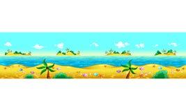 Costa y océano. Foto de archivo libre de regalías