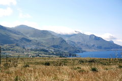 Costa y país de Sicilia Fotografía de archivo libre de regalías