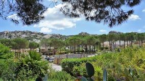 Costac$smeralda-küstenmagie und mystischer Innenraum der Insel von Sardinien, Italien Stockfotos