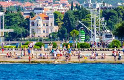 Costal Croatia scenic view during summer day. Costal Croatia by the Adriatic sea during summer day royalty free stock image