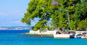 Costal Croatia scenic view during summer day. Costal Croatia by the Adriatic sea during summer day royalty free stock photography
