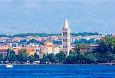 Costal Croatia scenic view during summer day. Costal Croatia by the Adriatic sea during summer day stock image