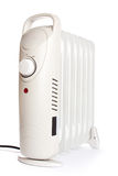 Costal electric heater on oil. On a white background Stock Image