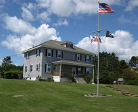 Costal home. A home on the coast of Maine during the summer Stock Photo