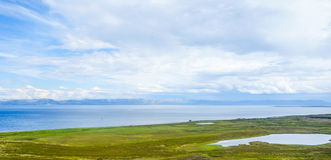 Costal shoreview in Norway during summer. Costal shore view in Northern Norway during summer stock image