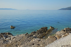 Costal view. Image of costal view. Rocky beach by the sea royalty free stock photo