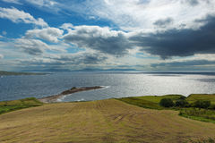 Costal view ireland. With a dramatic sky royalty free stock images
