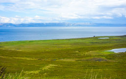 Costal view in Norway during summer royalty free stock image