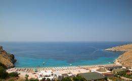 Costal widok Albański morze Fotografia Royalty Free
