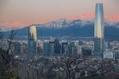 Центр Сантьяго Чили Costanera Стоковые Фотографии RF