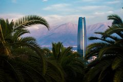 Costanera center tower in Santiago Chile royalty free stock image