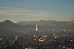 Costanera centre building at Santiago de Chile Stock Photo