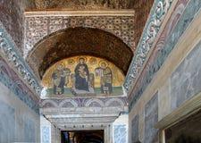 Costantina e Justinian fanno le offerti a vergine Maria Fotografie Stock