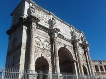 Costantine& x27;s arch. Arch Marble Roman empire Stock Images