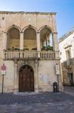 Costantini Palace. Lecce. Puglia. Italy. Stock Photos