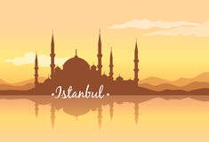 Costantinopoli è una città dei contrasti Fotografia Stock Libera da Diritti