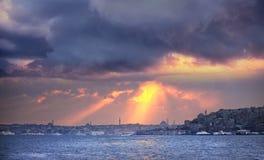 Costantinopoli al tramonto Immagine Stock