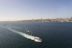 Costantinopoli Bosphorus con il fuco Immagine Stock Libera da Diritti