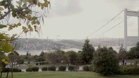 Costantinopoli Bosphorus/inquinamento atmosferico stock footage